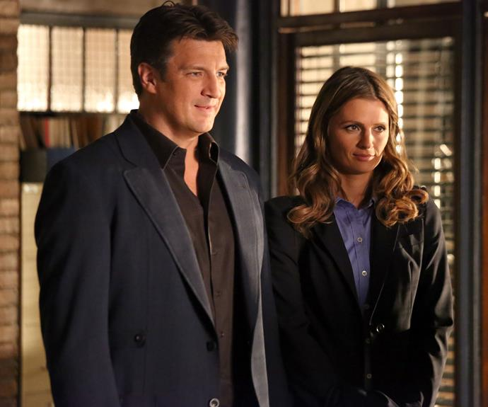 Nathan alongside his *Castle* co-star Stana Katic.