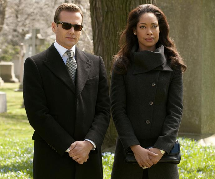 Gina with her *Suits* co-star Gabriel Macht.