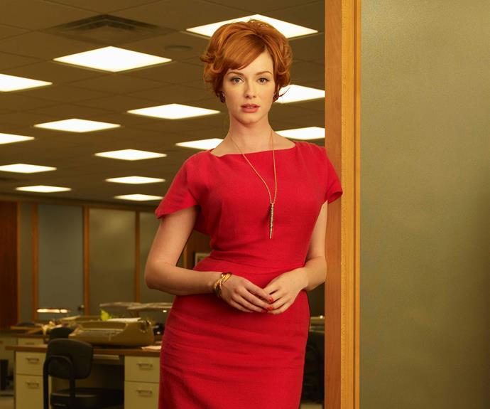 Christina as Joan Holloway in *Mad Men*.