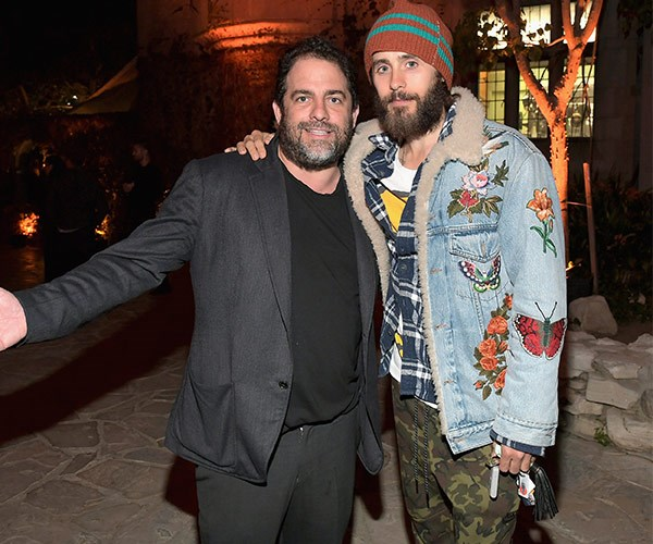 Brett and Jared at the mansion earlier this year.