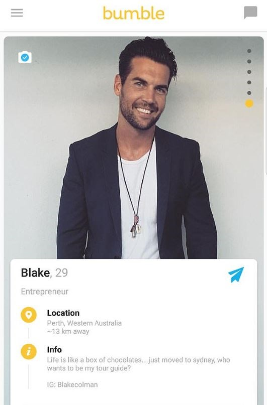 Blake wants to be the next Bachelor.