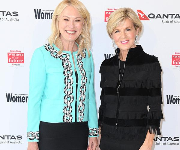 Showbiz legend Kerri-Anne Kennerley and Foreign Minister Hon. Julie Bishop.