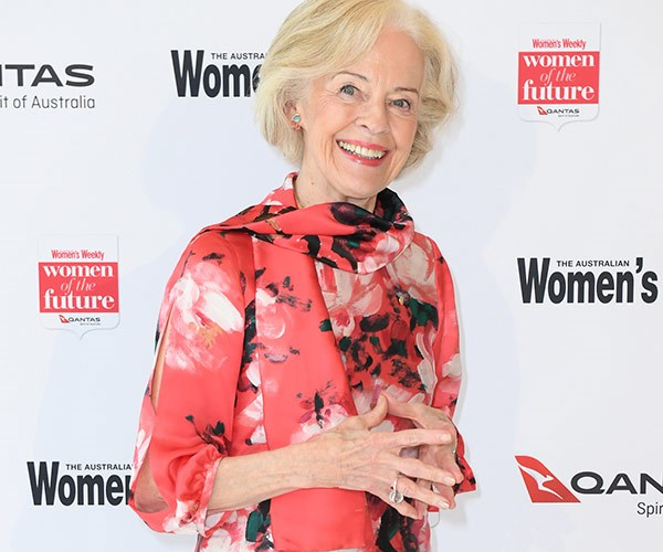 Dame Quentin Bryce is a vision in red.