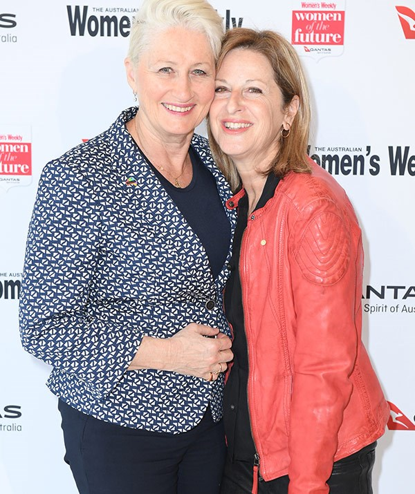 Dr Kerryn Phelps with her partner Jackie Stricker-Phelps.