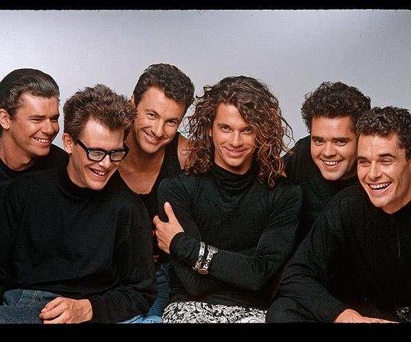 Michael with INXS.