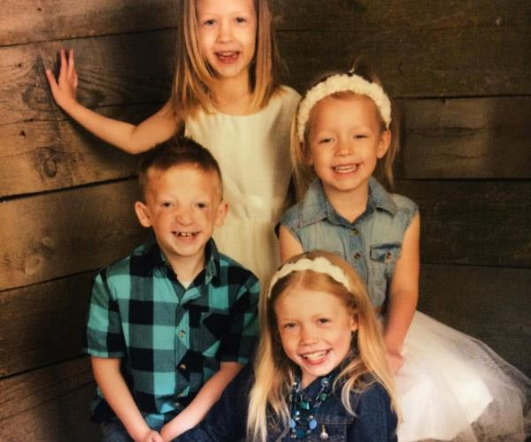 Jackson with his sisters. The 7-year-old's dad says the parents are often worse than the kids when it comes to the stares and inconsiderate comments Jackson gets on the street.