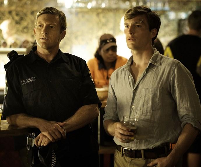 Police sergeant Jock Crawford (David Wenham, left) and John.