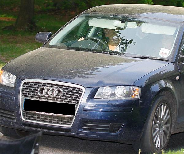 Before her wedding news was shared, Kate was spotted in a royal vehicle...