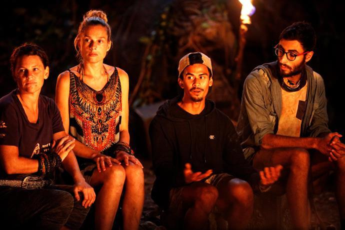 Australian Survivor's final four. L-R: Tara, Michelle, Jericho and Peter