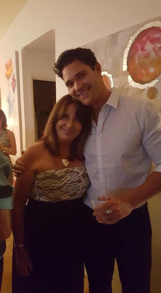 Apollo and his mum, Sue