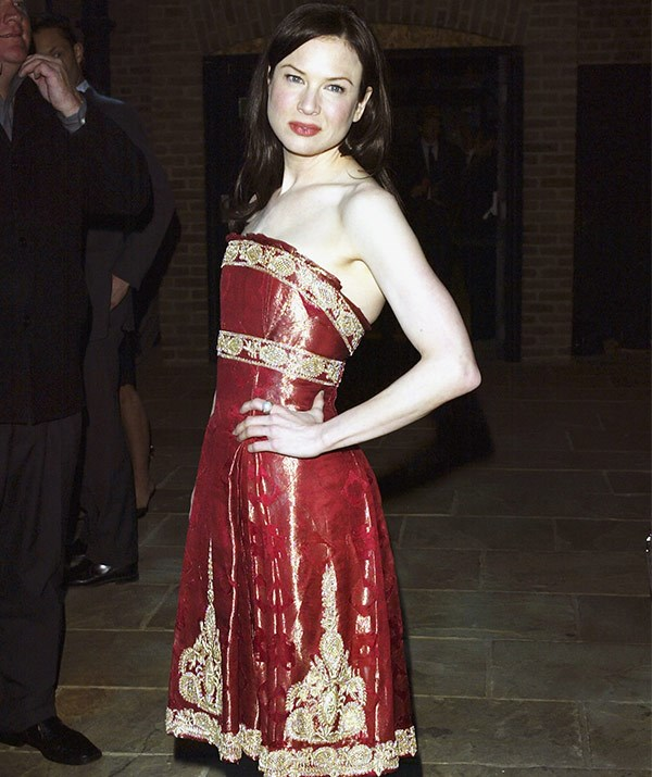 This is the moment that put Marchesa on the map! Renee Zellweger steps out in one of the brand's stunning creations for the premiere of *Bridget Jones: The Edge of Reason* in 2004.