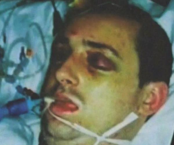 Paul Pugh sustained serious brain injuries that left him in hospital for 13 months after four men attacked him. Image: Headway.
