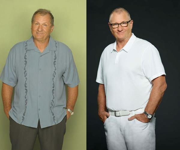**Ed O'Neill** plays Gloria's husband Jay Pritchett and father to Claire and Mitchell.