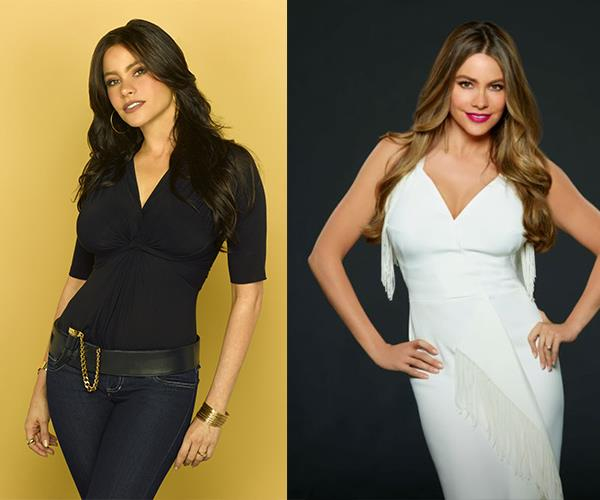 **Sofia Vergara** plays fiery Colombian Gloria Delgado-Pritchett. She's a mum to Manny and Joe.