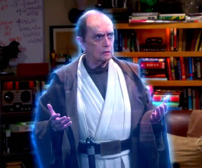 "***""The Proton Transmogrification"" -*** **The lowdown:** As they prepare for Star Wars Day, Sheldon (Jim Parsons) and Leonard (Johnny Galecki) learn Professor Proton (Bob Newhart, above) has died. When the Professor appears to Sheldon in 