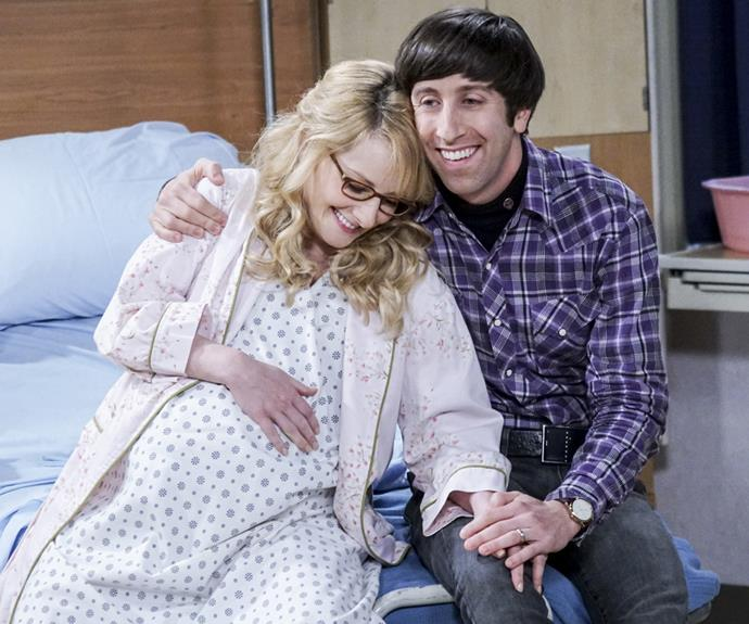 """***""""The Birthday Synchronicity"""" -*** **The lowdown:** Loved-up Howard and Bernadette (Melissa Rauch) finally welcome the arrival of their little baby girl, Halley. And they make Raj godfather – even though he blabs about the baby's sex just before Bernadette goes into labour. **Did you know?** Because Melissa is so short, she had to be regularly fitted for new fake baby bumps."""