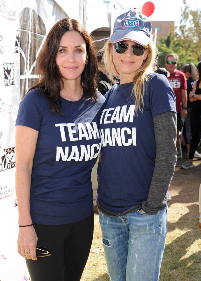 Courteney catching up with another one of Nanci's high-profile clients: Renée Zellweger.
