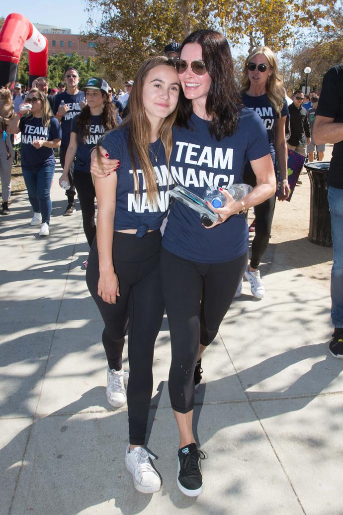 Two of Team Nanci's biggest supporters: Coco and Courteney.