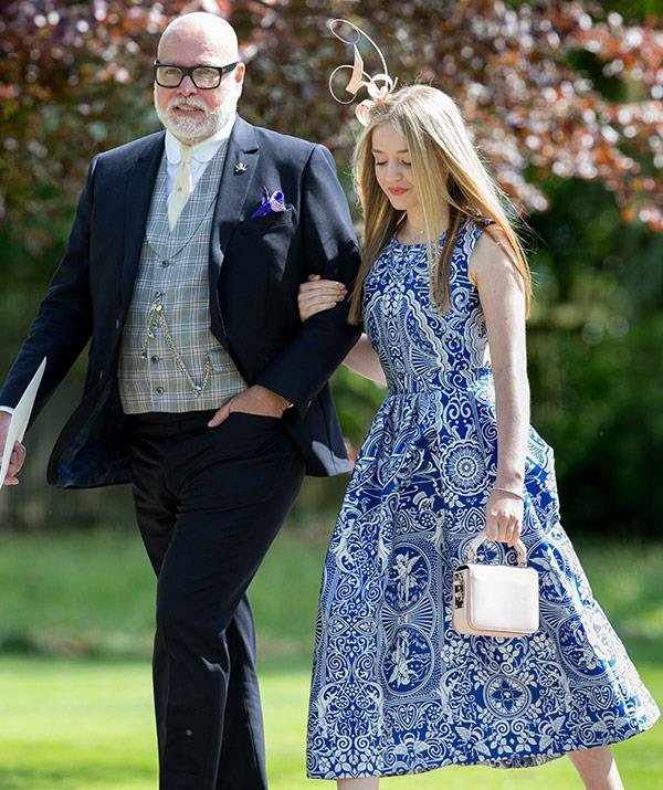 Gary and his daughter Tallulah at Pippa Middleton's wedding earlier in the year.
