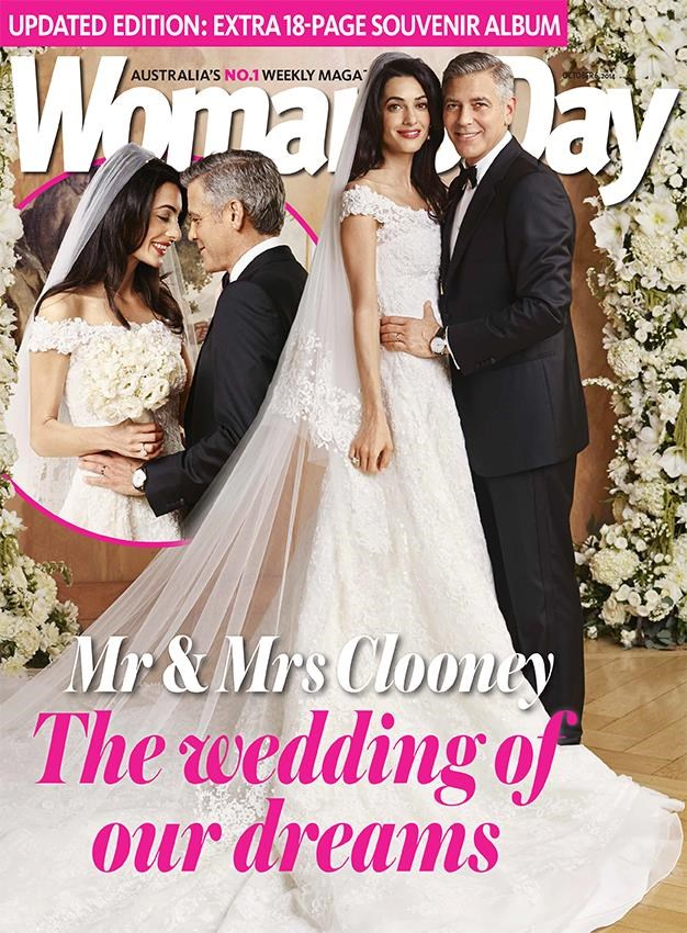 Amal and George on their wedding day.
