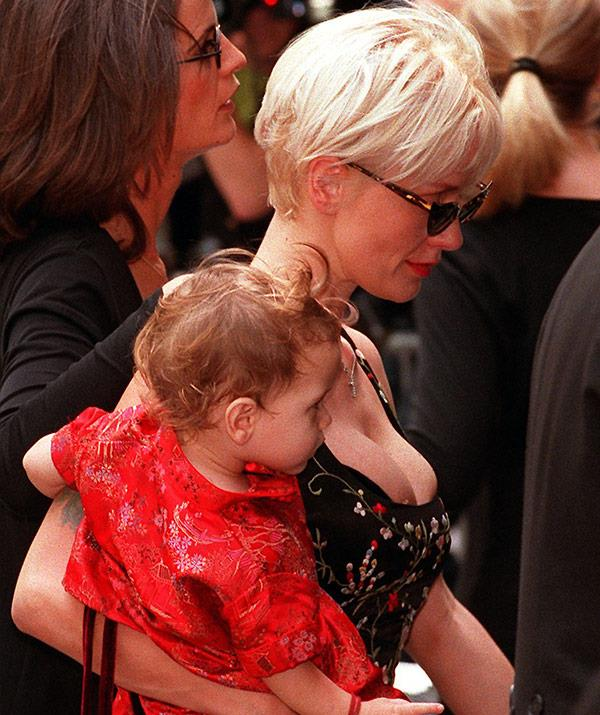 Paula Yates (pictured here with their daughter Tigerlily at Michael's funeral) died of a heroin overdose just three years later in September 2000.