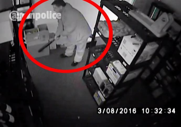 CCTV showed Ahmet swinging a baseball bat... Credit: HotSpot Media