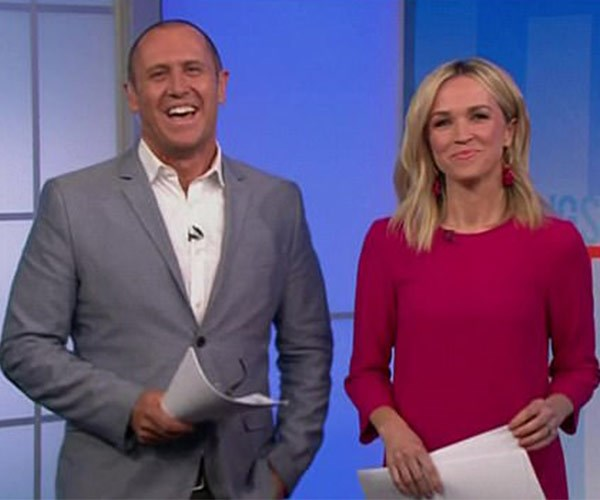 """Fill-in host Sarah Cumming joked that Kylie Gillies was at a """"secret meeting."""""""