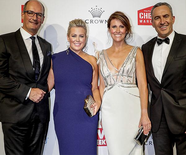 David Koch, Samantha Armytage, Natalie Barr and Chris Reason at the 2017 Logie Awards.