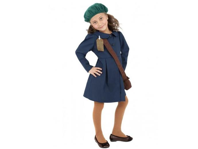 Anne Frank/World War II Evacuee Girl Halloween costume Offensive to holocaust survivors and their family.