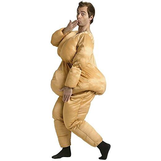 Body Shaming Halloween costume.  Offensive to everyone. Body shaming is never okay.