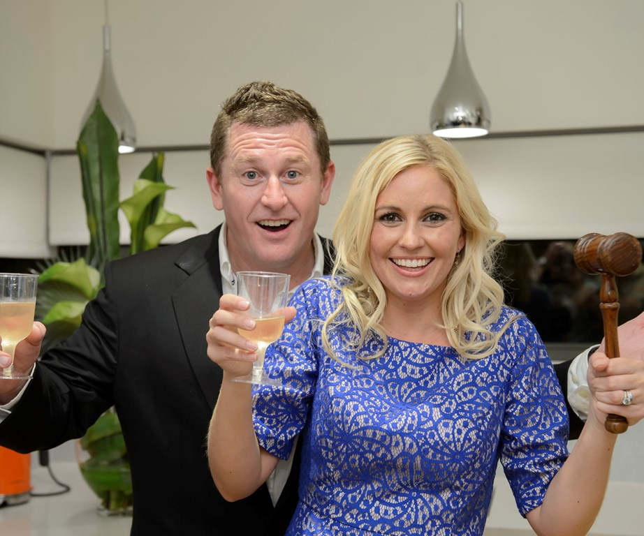 Phil and Amity after their The Block: All Stars win in 2013.