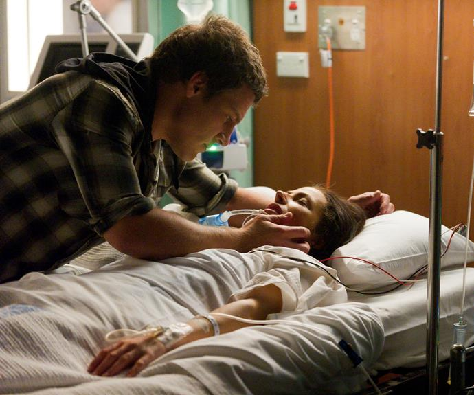 """**Goodbye, my lover:** Brax's relationship with Charlie (Esther Anderson) was turbulent. He and the policewoman were complete opposites. """"There was a lot of action with Charlie and Brax,"""" Stephen says. When Charlie was shot and critically injured, doctors couldn't help her. In a gut-wrenching decision, they turned off her life-support."""