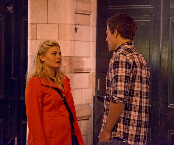 **London love dash:** Not even an ocean could stand in the way of Brax's feelings for Ricky (Bonnie Sveen). When she left for London, he followed. His declaration of love was rejected. But when Brax fell ill, she was by his side and they reunited.