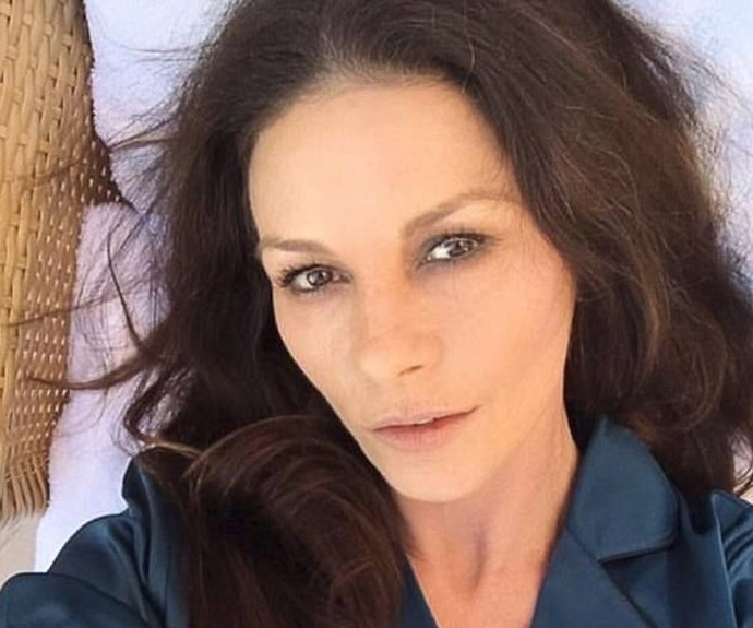 Complexion perfection! Catherine Zeta Jones, in all her PJ-Loving beauty, posted this picture to Instagram and, to be honest, proves that without make-up, this woman will always shine bright.