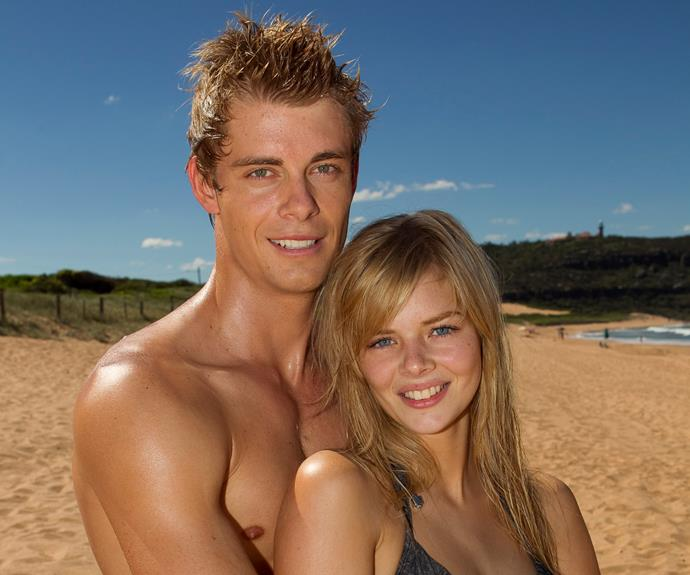 **Luke Mitchell:**Romeo Smith (2009-2013) **THEN:** Summer Bay heart-throb, surfer and gym enthusiast Romeo certainly attracted plenty of attention from the ladies during his time on the beach. But despite a brief dalliance with Ruby – played by his real-life wife, Rebecca Breeds – it was Indi (Samara Weaving) who won his heart.