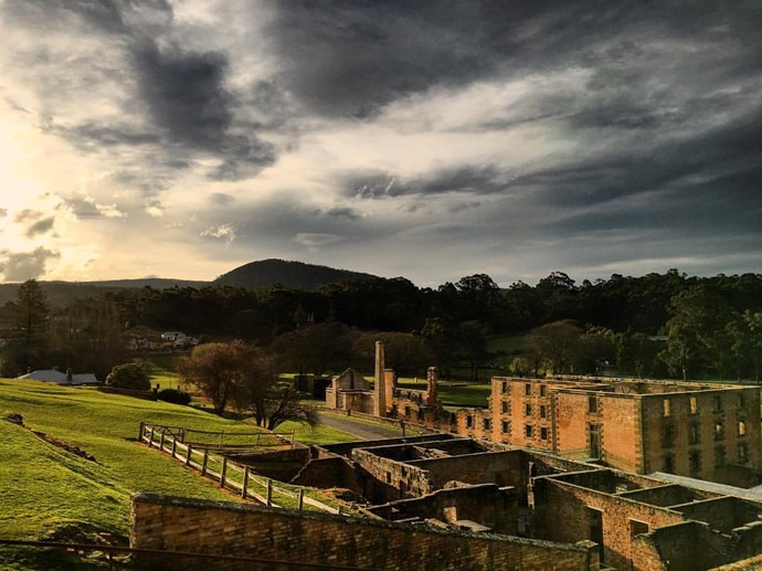 Port Arthur, Tasmania, Australia. Port Arthur was the location of Australia's Port Arthur massacre in 1996. A great number of convicts also died there over the years. It's a popular location for ghost tours and there have been almost 2000 ghost sightings at the location in the past 20 years.