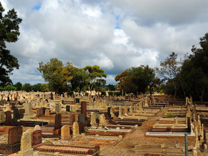 St. John's Cemetery in Kapunda, South Australia. All cemeteries are spooky, but multiple accounts have confirmed this on to have an angry ghost on the grounds.  St. John's Cemetery in Kapunda in South Australia is haunted by an unwed mother looking for her baby who was forcibly taken from her.