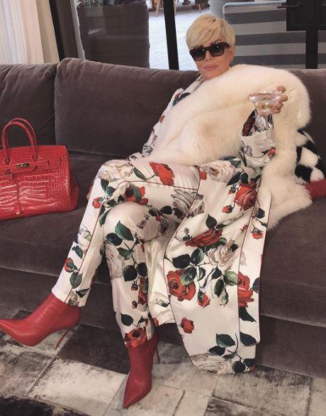 Kris Jenner has taken hair-spiration from her blonde-curious daughters, Kim and Khloe, and bleached her signature pixie crop. Martini in hand, fur on shoulder, Kris' glamorous look is as cool as her ashy new hue.
