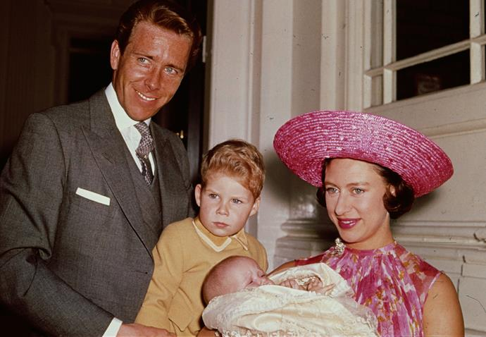 Princess Margaret with Lord Snowden and their two children, Lady Sarah Chatto and David Armstrong-Jones.