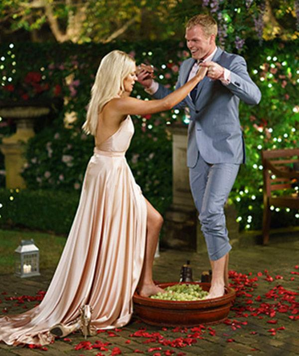 """Like an eager beaver with his wine-themed meet-cute at the ready, Jarrod began his one-man show with one task: [Woo Sophie Monk](https://www.nowtolove.com.au/celebrity/tv/body-language-expert-on-the-bachelorette-australia-winner-42097