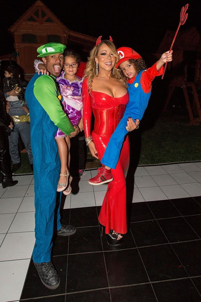 Mariah Carey, Nick Cannon, Moroccan and Monroe: The former spouses got into the spirit with their twins, Roc and Roe.