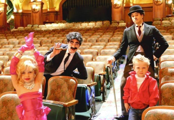 Neil Patrick Harris, David Burtka, Harper and Gideon: NPH and his brood looked like they stepped straight off a movie set in these Hollywood-inspired looks.