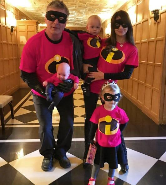 Alec, Hilaria, Carmen, Rafael and Leonardo Baldwin: The Baldwin clan looked incredible as The Incredibles.