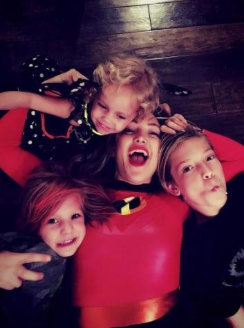 Kate Hudson, Ryder Robinson and Bingham Bellamy: Kate's kids definitely thought their mom looked incredible for Halloween. *(All images: Instagram)*