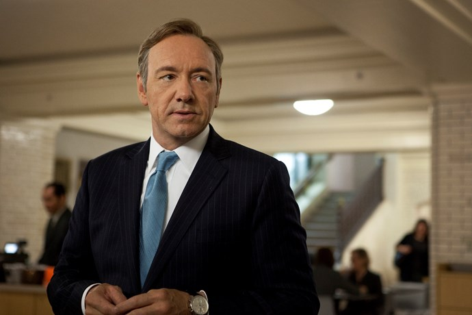 Kevin plays Francis Underwood in *House of Cards*