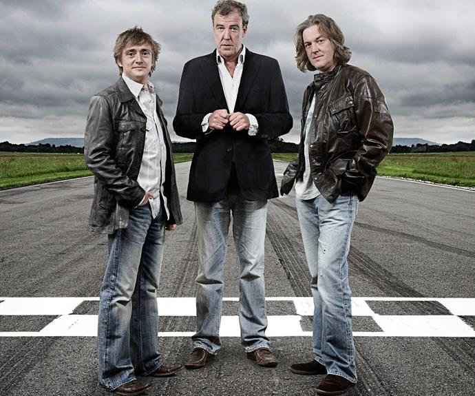 Jeremy (middle) with co-hosts Richard Hammond (left) and James May