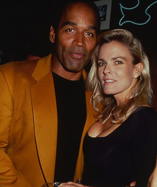 O.J. pictured with Nicole Brown.