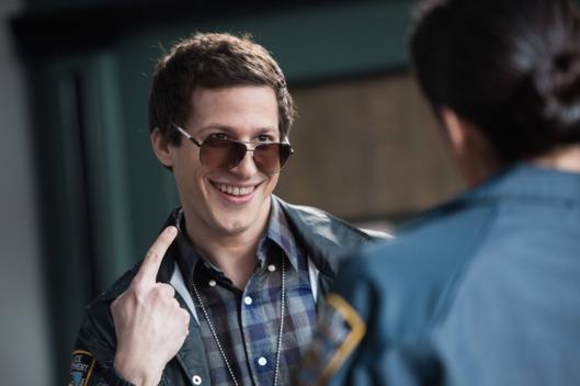 All laughs with Andy Samberg on *Brooklyn Nine-Nine*