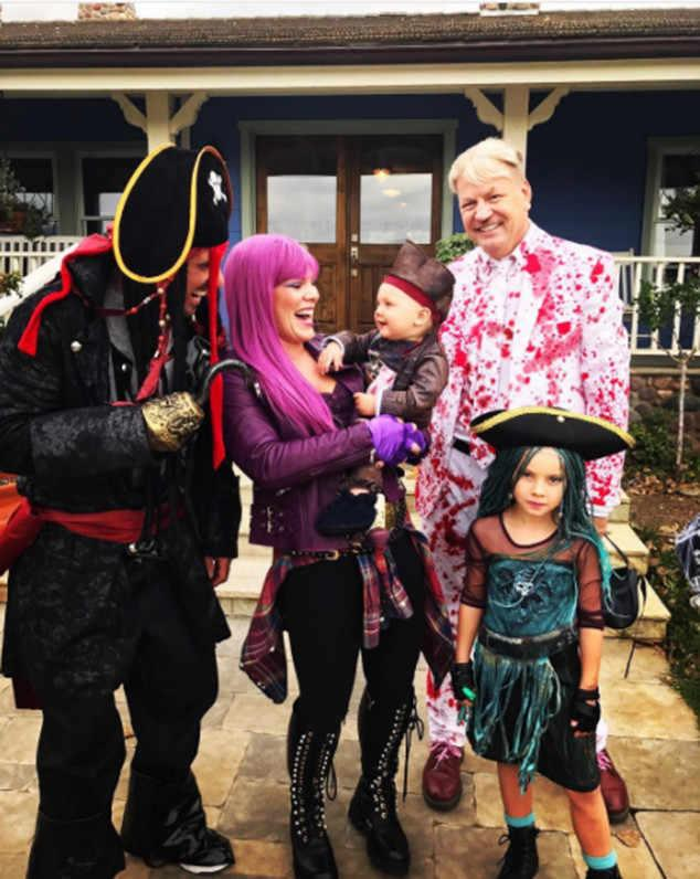 Pink, her husband, Carey Hart, and their children, Jameson and Willow, are the ultimate pirate crew!