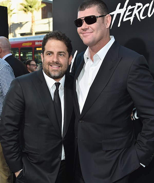 Brett with his pal, Aussie billionaire James Packer.
